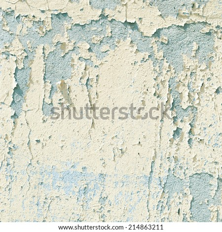 old wall texture abstract background, white peeling paint