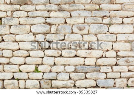 Old wall texture from the old ruins of the city of Ephesus in modern day Turkey - stock photo