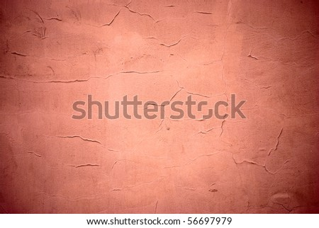 Old wall with cracks - stock photo