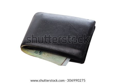old wallet - stock photo