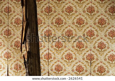 old wallpaper - stock photo