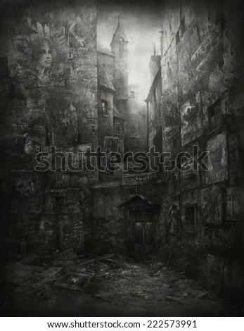Old walls - stock photo