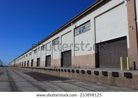 Old warehouse, San Pedro. Port of Los Angeles, - stock photo