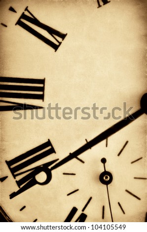 Old watch close up - stock photo