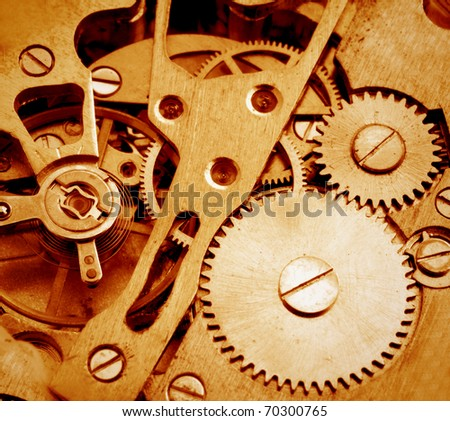 Old watch cogs