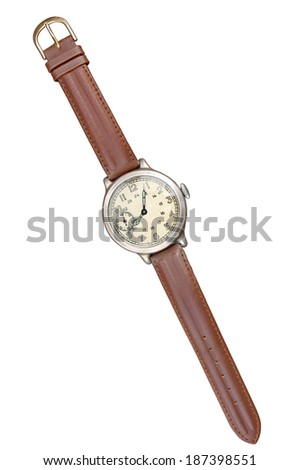 Old watches isolated. Clipping path included/ - stock photo