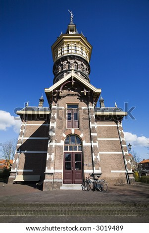 Old water tower in small Dutch town