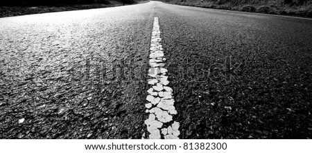 Old way to destination black and white tone background abstract - stock photo