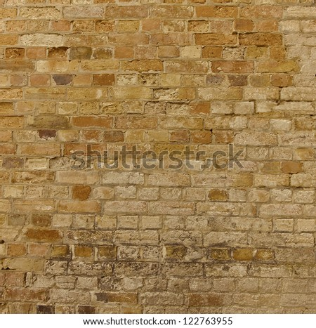 Old Weathered Brick Wall - stock photo