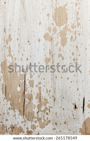Old weathered chipped painted wood as grunge background - stock photo