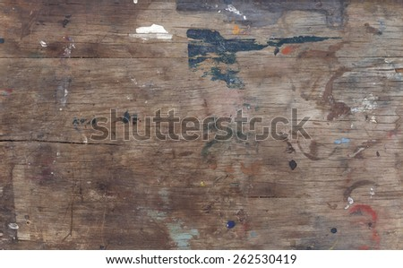 old weathered dirty wood texture - stock photo
