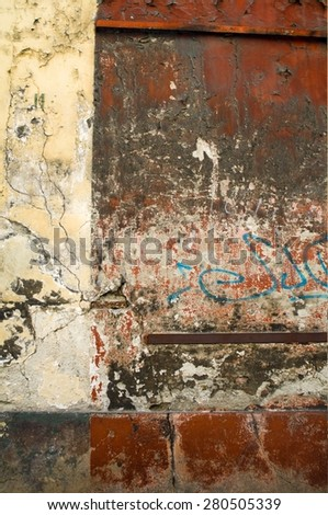 old weathered facade - stock photo