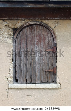 Old weathered hayloft door with rusted hinges & Old Weathered Hayloft Door Rusted Hinges Stock Photo (100% Legal ...