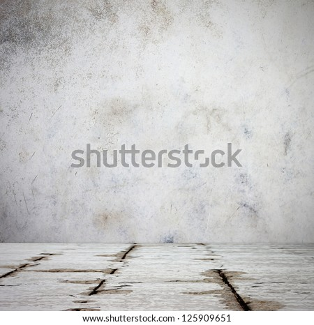 Old weathered  pattern of floor and wall