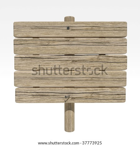 old weathered wood sign - stock photo