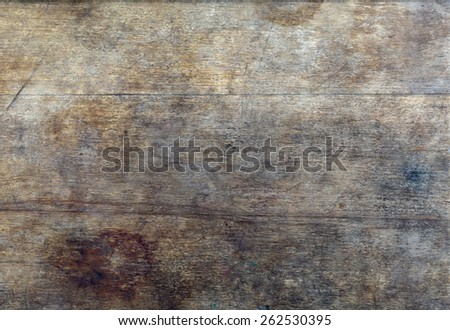 old weathered wood texture with scratches and stains - stock photo
