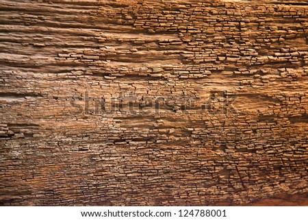 Old Weathered Wood With Distressed Bark - stock photo
