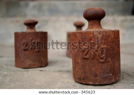 old weight - stock photo