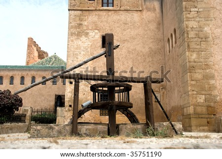 Old Well in Oudaia Kasbah in Rabat, Morocco - stock photo