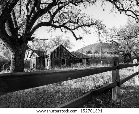 Old West House in B&W - stock photo