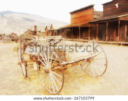 Old west, Old trail town, Cody, Wyoming, USA - stock photo
