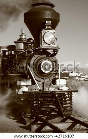 Old West Steam Locomotive - stock photo