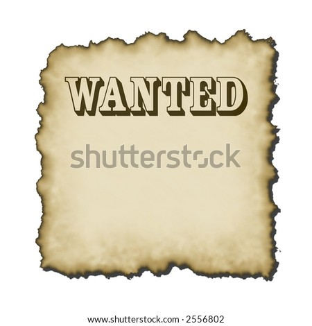 old western looking bold wanted type poster burnt edges small drop shadow rescales nicely