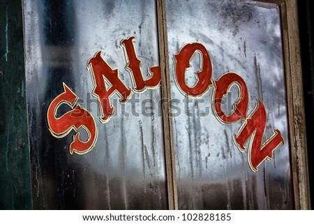 Old Western Saloon - stock photo