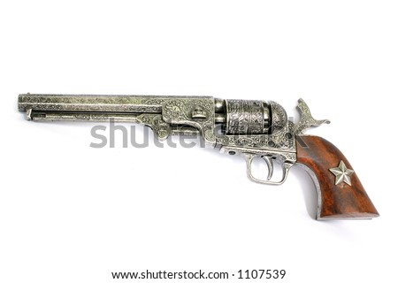 Old western-style revolver - stock photo
