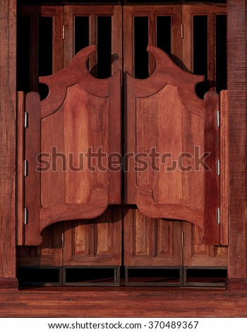 Old western swinging Saloon doors & Old Western Swinging Saloon Doors Stock Photo (Safe to Use ...