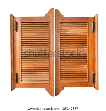 Preferred Old Western Swinging Saloon Doors Isolated Stock Photo (100% Legal  VP11