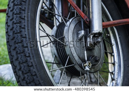 Old wheel motorcycle