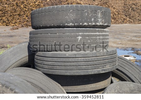 Old wheel tire