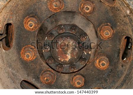 Old wheels car - stock photo