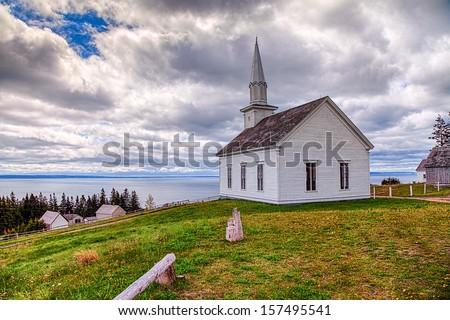 Old White Church - stock photo