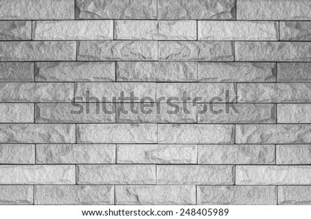 Old White Grunge Bricks Wall Pattern. - stock photo