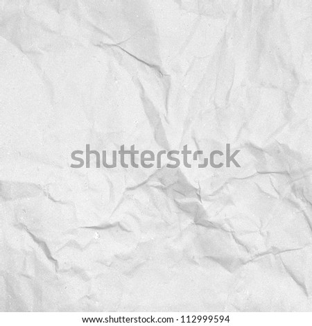old white handmade crumpled paper texture background
