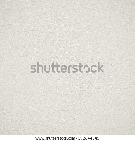 Old white leather background or texture - stock photo