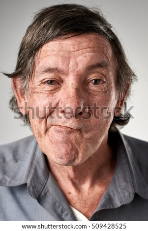 old white man making funny face silly expression fun