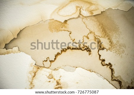 Old White Wall Water Stains Paint Stock Photo (Royalty Free ...