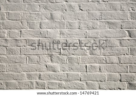 OLD WHITE WASHED WALL - stock photo