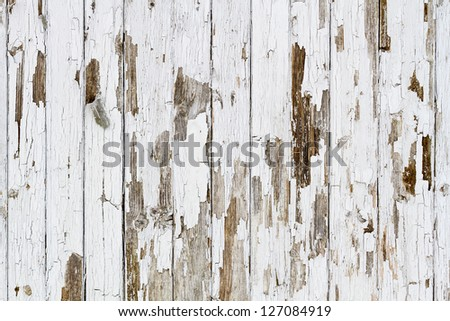 Old white weathered wooden background no. 3 - stock photo