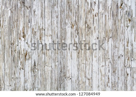 Old white weathered wooden background no. 7 - stock photo