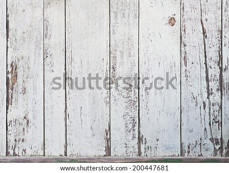 Old white wood plank background. Closeup.