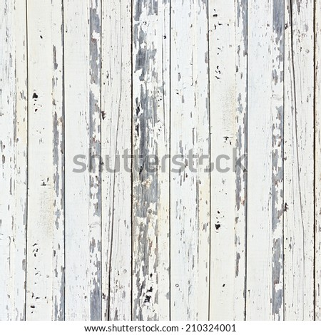 Old white wood plank background. Closeup. - stock photo
