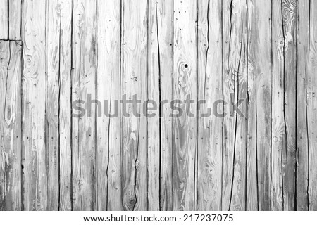 old white wood texture and background - stock photo