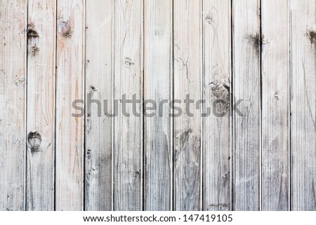 Old white wood wall background - stock photo