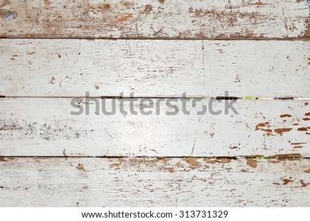 Old white wooden planks