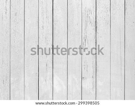 Old white wooden wall with cracked paint, detailed background photo texture - stock photo