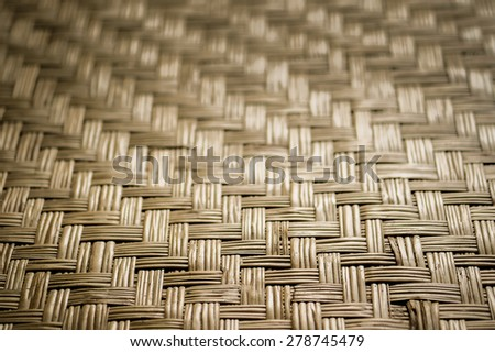 Old wicker texture background - stock photo
